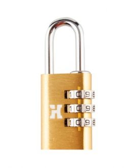 Candado Handlock  aluminio combinación  28 mm. 3 dígitos dorado