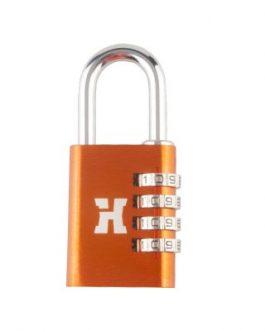 Candado Handlock aluminio combinación 38 mm. 4 dígitos naranja