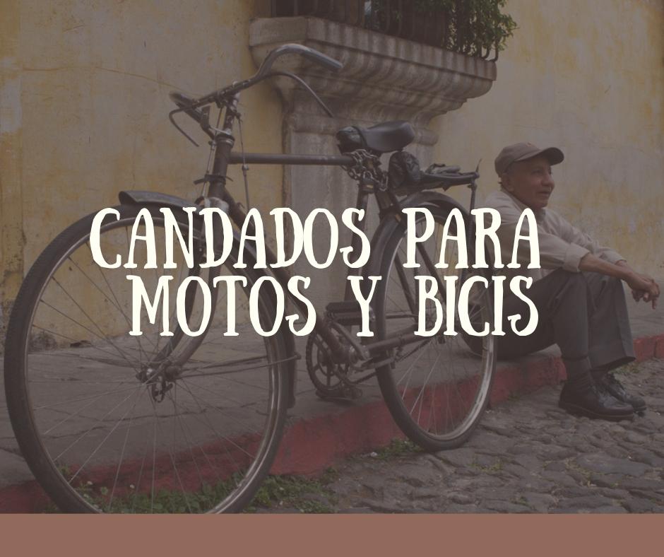 candados para moto y candado para bicicleta