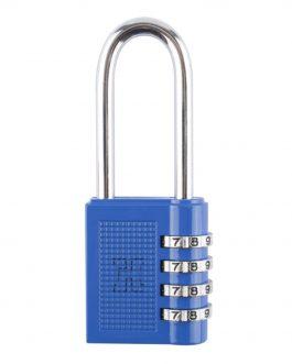 Candado combinación Azul Handlock 4 números arco largo