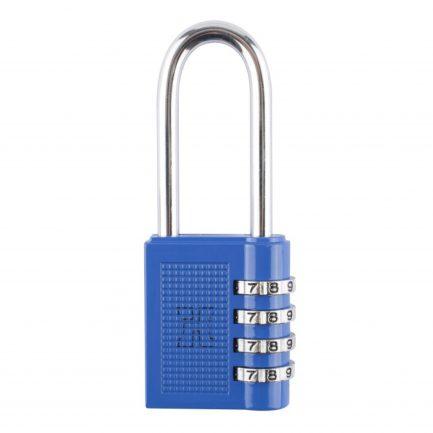 Candado combinación Handlock 4 números azul arco largo