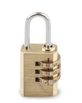 Candado Handlock latón combinación 3 dígitos 30 mm.