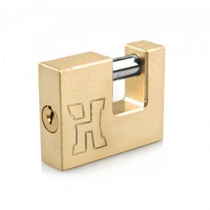 Candado Handlock latón tipo U 90 mm.